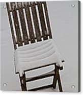 In The Cold Acrylic Print by Odd Jeppesen