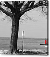 In The Distance South Haven Lighthouse Acrylic Print
