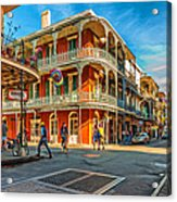 In The French Quarter - Paint Acrylic Print