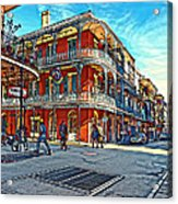 In The French Quarter Painted Acrylic Print