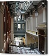 In The Hallway - Peabody Library Acrylic Print