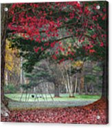 In The Park Square Acrylic Print