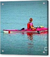 In The Pink Kayaker Acrylic Print