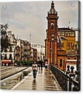 In The Rain - Puente De Triana Acrylic Print