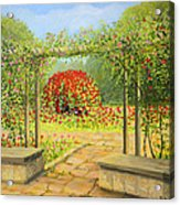 In The Rose Garden Acrylic Print by Kiril Stanchev