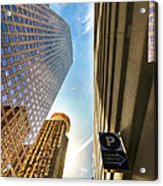 In The Shadow Of The Skyline District Acrylic Print by Dee Zunker