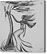 In The Wind She Dances Acrylic Print