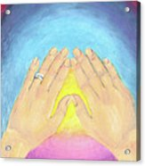 In This Moment The Answer Is Peace Acrylic Print