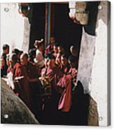 In Tibet Tibetan Monks 5 By Jrr Acrylic Print