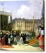 Inauguration Of A Monument In Memory Of Louis Xvi 1754-93 By Charles X 1757-1836 At The Place De La Acrylic Print