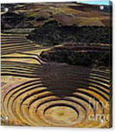 Inca Crop Circles At Moray Acrylic Print