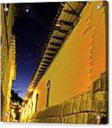 Incan Street Cusco Peru Acrylic Print
