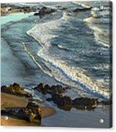 Incoming Waves At Bandon Beach Oregon Acrylic Print