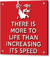 Increasing Speed Red Acrylic Print