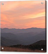 Incredible Sunset At Max Patch Acrylic Print