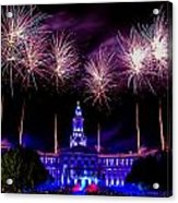 Independence Eve In Denver Colorado Acrylic Print