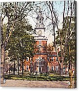 Independence Hall 1900 Acrylic Print