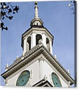 Independence Hall Bell Tower Acrylic Print
