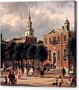 Independence Hall In Philadelphia Acrylic Print