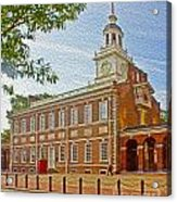 Independence Hall Philadelphia  Acrylic Print by Tom Gari Gallery-Three-Photography
