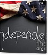 Independent Political Party Sign On Chalkboard Acrylic Print