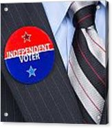 Independent Voter Pin Acrylic Print