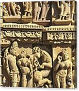 India. Khajraho. Jain Temple Acrylic Print