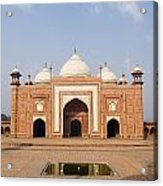 India, Next To Taj Mahal Agra, Taj Acrylic Print
