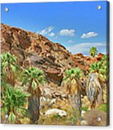Indian Canyons View In Palm Springs Acrylic Print