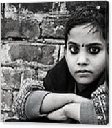 Indian Child Acrylic Print by Vicasso Destiny