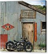 Indian Chout At The Old Okains Bay Garage 1 Acrylic Print