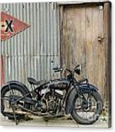 Indian Chout At The Old Okains Bay Garage 2 Acrylic Print