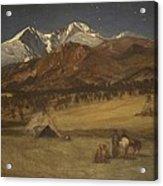 Indian Encampment - Evening Acrylic Print