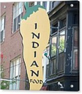 Indian Food Acrylic Print