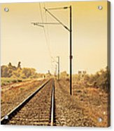 Indian Hinterland Railroad Track Acrylic Print