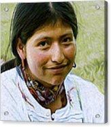 Indian Maid Acrylic Print