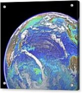 Indian Ocean, Chlorophyll And Bathymetry Acrylic Print by Science Photo Library