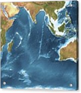 Indian Ocean Sea Floor Topography Acrylic Print