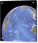 Indian Ocean, Sea Floor Topography Acrylic Print