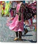 Indian Princess Dancer Acrylic Print