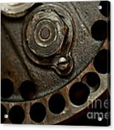 Indian Racer Crankshaft Fly Wheel Acrylic Print