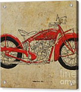 Indian Scout 1928 Acrylic Print by Pablo Franchi