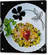 Indian Snacks - Poha Acrylic Print