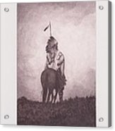 Indian Sunset Of Dying Race Acrylic Print by Billie Bowles