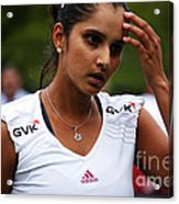 Indian Tennis Player Sania Mirza Acrylic Print by Nishanth Gopinathan