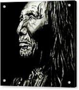 Indian Warrior Acrylic Print