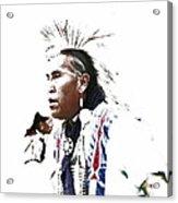 Indian Warrior Acrylic Print by Robert Jensen