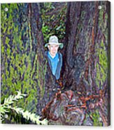 Indiana Jones In Armstrong Redwoods State Preserve Near Guerneville-ca Acrylic Print