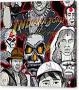 Indiana Jones Temple Of Doom Acrylic Print by Gary Niles