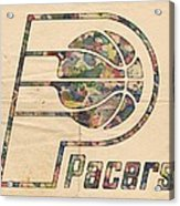 Indiana Pacers Poster Art Acrylic Print
